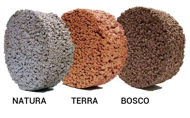 calcestruzzo drenante premiscelato colorazioni
